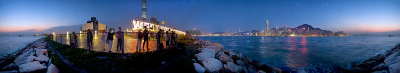 360 Degree Panorama, Magic Hour, West Kowloon