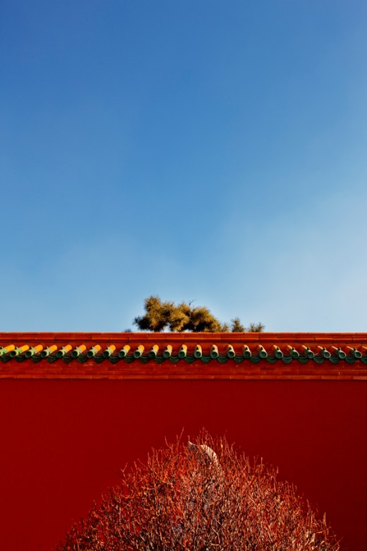 An winter cold early sun shine in Shenyang Palace (沈陽故宮)