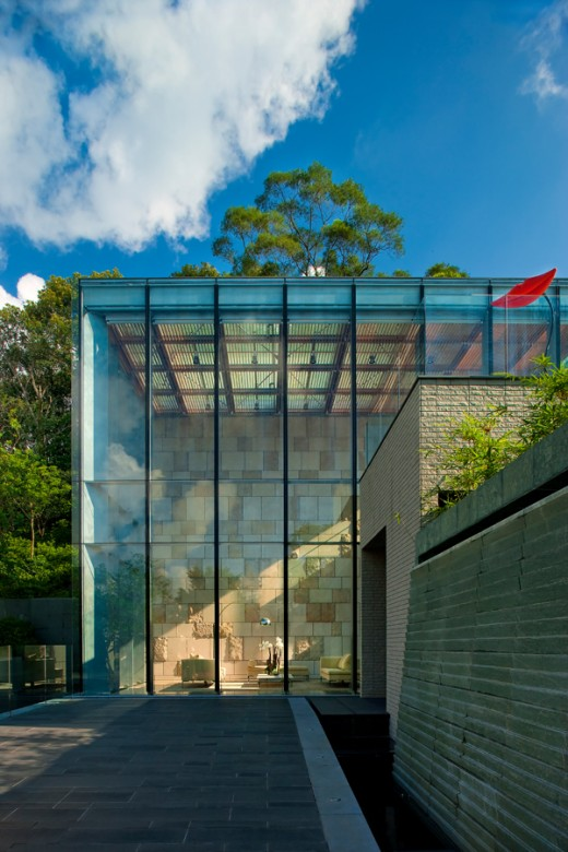The morning sun shine through the great design Giverny(溱喬) Club House in Sai Kung